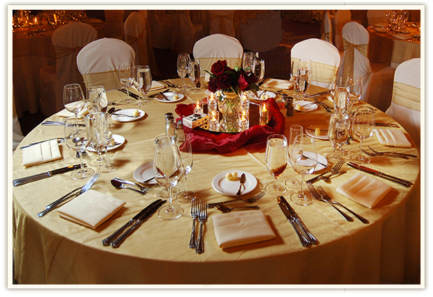 Russian Ala-carte Table Setting : Let's make your event a success
